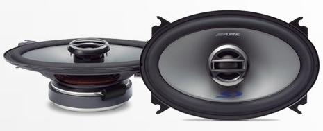 "Alpine SPS-406 4 x 6"" Type S 2-Way Coaxial Car Speakers"