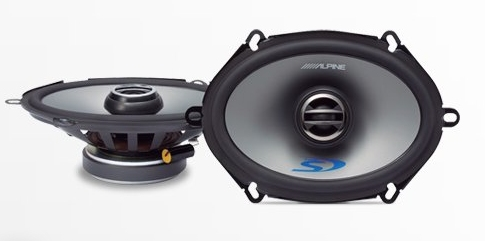 "Alpine SPS-507 5 x 7"" Type S 2-Way Coaxial Car Speakers"
