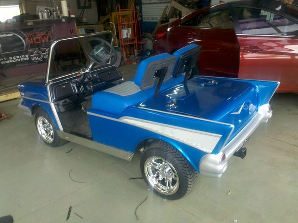 57 Chevy Golf Cart