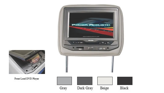 Power Acoustik HDVD-93 Headrest with Built In Dvd